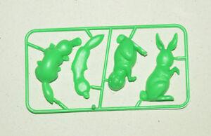 CEREAL PREMIUM MEXICAN R&L FIGURE ANIMALS duckbill/RABBIT GREEN TINYKINS 60'S