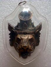 Super Power Hermit face Tiger LP Kalong Wat Keowgaew OLD Thai Amulet
