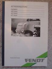 Trattori Fendt 409 + 410 + 411 vario manuale di istruzioni