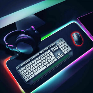 Große RGB Bunte LED Beleuchtung Gaming Matte Spiele Mouse Pad für PC 80X30CM DHL