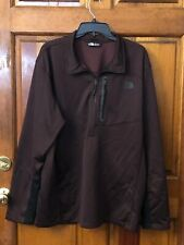 Men's The North Face Canyonlands 1/2 Zip Maroon or Wine / Black Jacket Size XXL