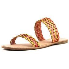 Calzado de mujer sandalias con tiras naranja sintético
