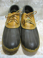 LL BEAN BOOTS DUCK RAIN RUBBER LEATHER MUCK LADIES SZ 11 LOW BR free shipping