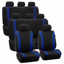 3-Row Car Auto Seat Covers for Auto Vehicle Sedan SUV Van Truck Blue