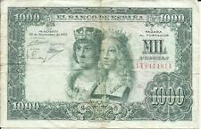 SPAIN 1000 PESETAS 1957  P 149. FINE CONDITION.  3RW  12 ABRIL