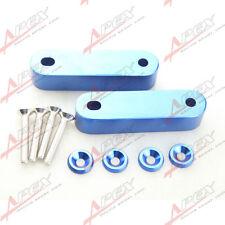 Blue Hood Spacer Risers Set Kit For 90-01 Acura Integra Honda Civic CRX