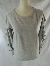 One Grey Day Grey Cut Out Long Sleeve Sweater Size S