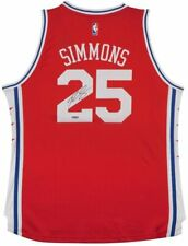 BEN SIMMONS Autographed Philadelphia 76ers Alternate Red Jersey UDA