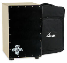 Cajon Drum Hand Percussion Drums Box Birch Black Wood Tunable Bass Snare + Bag