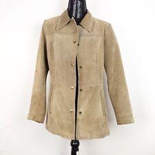 Kenneth Winnie Womens Leather Jacket Size Large Beige Soft Vintage Jacket