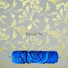 7'' Embossed Paint Roller Sleeve Wall Texture Stencil Brush Decor-Peony