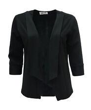 Womens New Black Blazer Jacket Plus Size 16 18 20 22 24 26 28 Ladies *LICK*