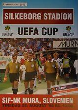 Programm UEFA Cup 1998/99 Silkeborg IF - NK Mura (Slovenien)