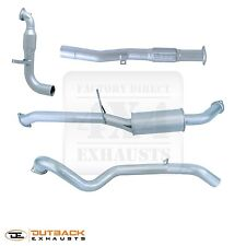 """Nissan Patrol Y61(CR) TD Ute (Coil Spring Rear)3"""" Aluminised Exhaust System"""