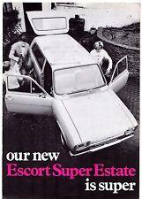 Ford Escort Super Estate Mk1 1969 UK Market Foldout Sales Brochure 1100 1300