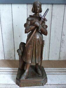 ancienne statue jeanne d arc en régule 36 cm de haut