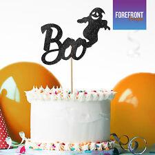 Personalizado Feliz Halloween Fantasma Boo Brillo Cake Topper Regalo Fiesta Decoración De Pasteles
