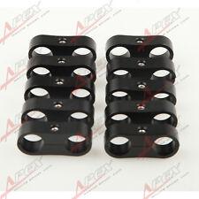 10PCS -10AN AN10 19.1mm Billet Fuel Hose Separator Fittings Adapter Black