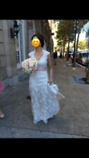 Maggie Sottero Bronwyn Ivory over Light Gold Wedding Dress Size 6