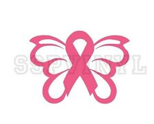 Breast Cancer Awareness Ribbon w/ Wings Decal Sticker