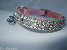 Pupteck Ba3007 Soft Velvet Safe Cat Adjustable Collar Bling Diamante With Bells