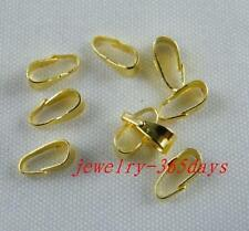 1000pcs Gold Plated Little Charms Pendants 6x2mm