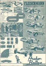 Catalogue dépliant FLEISCHMANN 1965 Auto rally Train HO catalogo katalog