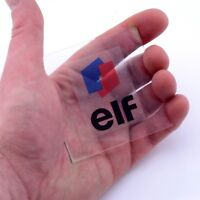 Elf Oil CLEAR Sticker Vinyl Decals x2 50mm Window Helmet Laptop Ligier Renault