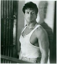 1989 Vintage Photo Portrait actor Sylvester Stallone in scene from movie Lock Up
