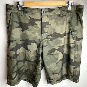 Dahui Mens Size 34 Hybrid Shorts Collection Board Swim Trunks Camo Stretch