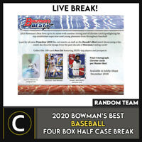 2020 BOWMAN'S BEST BASEBALL 4 BOX (HALF CASE) BREAK #A1006 - RANDOM TEAMS