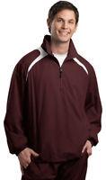 Sport-Tek Men's Drawcord Hem Polyester Long Sleeve 1/2 Zip Wind Shirt. JST75