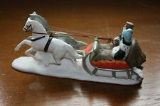 Dept 56 Dickens Village Sleighride Horse With Sleigh Passengers #65110 With Box
