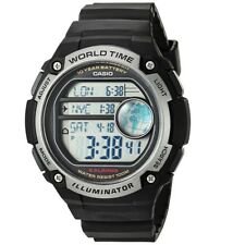 Casio AE-3000W-1AV Black Silver Dual World Time Unisex Digital Sports Watch