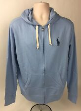 Polo Ralph Lauren Big Pony Soft Cotton Light Blue Hoodie Size X-LARGE NWT