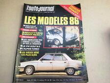"""REVUE  """" L' AUTO JOURNAL """" N° 12  ANNEE  1985  *"""