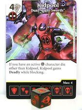 Dice Masters - #098 kidpool Dual Light swords-Deadpool