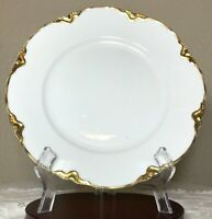 Antique Hutschenreuther Selb Bavaria Germany The Blenheim Gold White Plate 10""