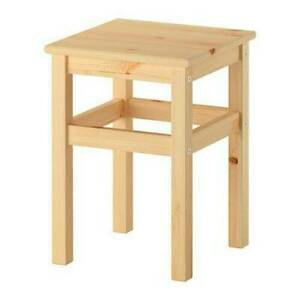 IKEA Oddvar Home Solid Pine Stool 45cm Tall Durable Wooden Stool Natural Pine