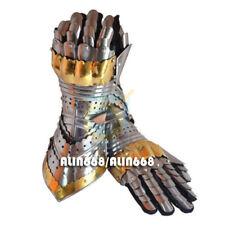 Armour Steel Gothic Gauntlet Gloves Larp Antique Medieval Gloves Iron Gauntlets