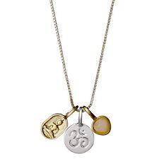 Pilgrim Jewellery Charms Necklace Fortune Karma Ohm buddha symbols, gold plated