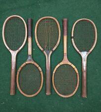 Antique Vintage Lot Of 5 Tennis Rackets Wooden AG Spalding Cortland