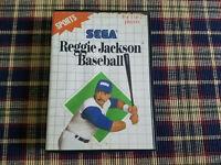 Reggie Jackson Baseball - Authentic - Sega Master - Case / Box Only!