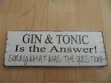 Shabby Gin & Tonic drink plaque sign chic and unique