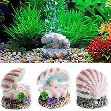 Shell Pearl & Air Stone Shell Bubbler Bubbling Decor Tank Fish Ornament Aquarium