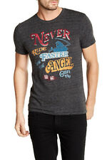 Lucky Brand 'Never Ride Faster Than Your Angel Can Fly' Tee, Onyx, Small