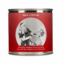 Wax Lyrical Festive Comedy Design Wax Filled Tin Naughty List Candle