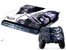 PS4 Design Folie Motiv Alien vs Predator leicht anzubringe zu entfernen 4-Teilig