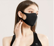 Face Cover Black Protective Breathable Cotton Washable Reusable UK