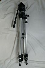 """Manfrotto Bogen 3036 Tripod with 3063 Head with Plate Aluminum 33""""-81"""" Camera"""